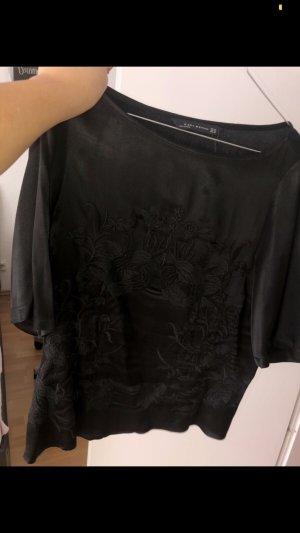Zara Blusa de seda negro