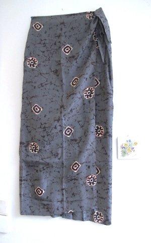 Conleys Jupe portefeuille multicolore soie