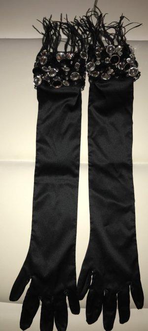 La perla Avond handschoenen zwart
