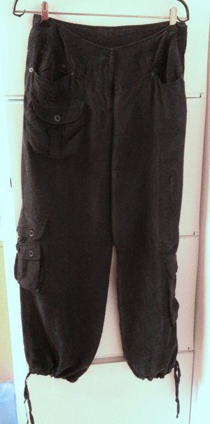 Pantalone cargo nero Seta