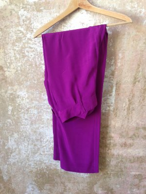 Lala Berlin Pleated Trousers violet silk