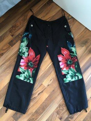 Nice Connection Pantalón de cintura alta multicolor Seda