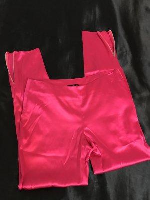 Pantalón de pinza alto rosa neón-rosa Seda