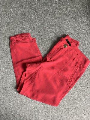 Pinko Pantalón capri rojo frambuesa