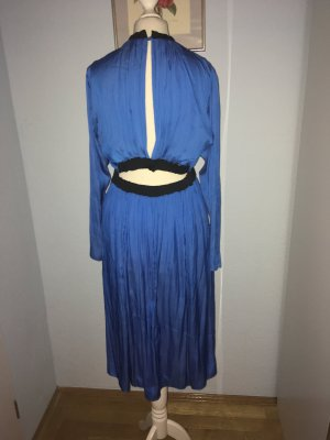 Cut Out Dress neon blue-black