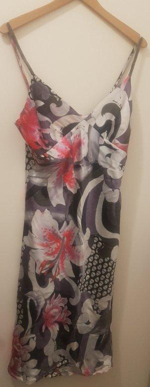 Amor & Psyche Robe à bretelles multicolore soie