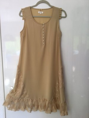 by Ti Mo Midi Dress camel silk