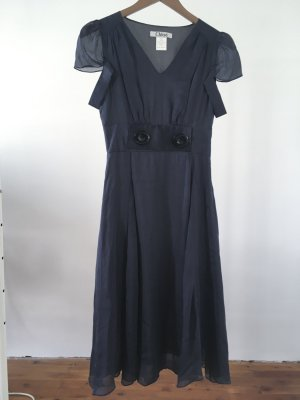 Chloé Evening Dress dark blue silk