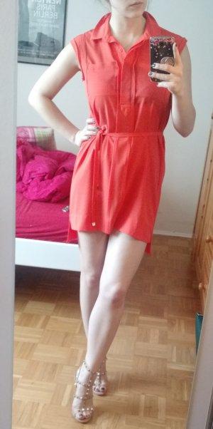 Seidenkleid Diane von Furstenberg Gr. 4 34 36 XS S orange Kleid Seide DvF sommer
