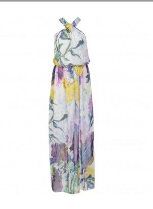 Seidenkleid edel aus Seide wunderschöner floraler Druck