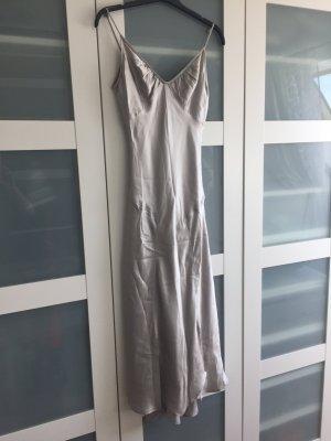 Seidenkleid, grau-metallic, Mango, gr 36