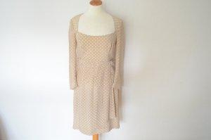 Seidenkleid mit langen Armen und Polka Dots