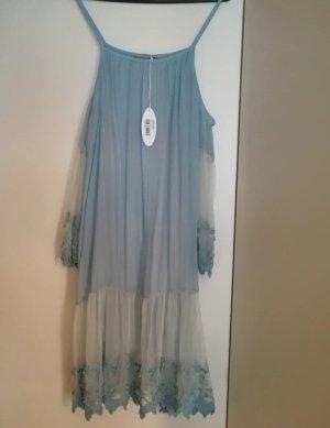 Seidenkleid Moretti Himmelblau 36-40