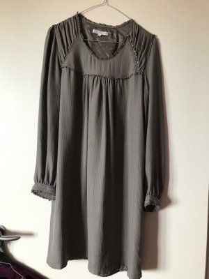 Paul & Joe Sister Empire Dress grey brown silk