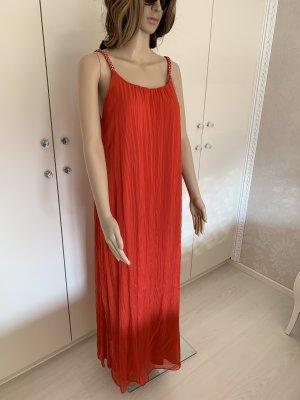 Seidenkleid rot einheitsgrösse mit unterkleid angenäht