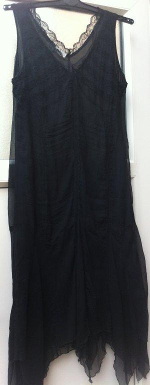 Seidenkleid, schwarz