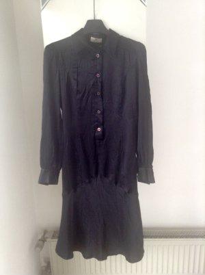 Seidenkleid schwarz Aigner Gothic Emo