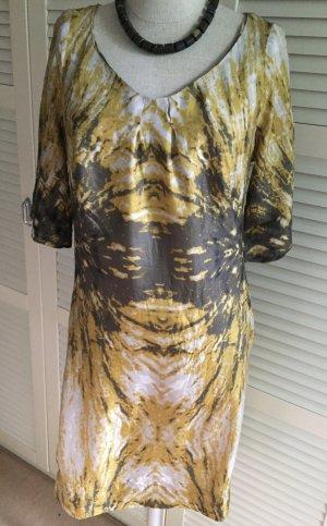 Seidenkleid Sommerkleid mit Taschen TURNOVER Gr. 40 Halbarm