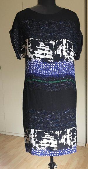 Seidenkleid von Filippa K, schwarz gemustert, Größe 36