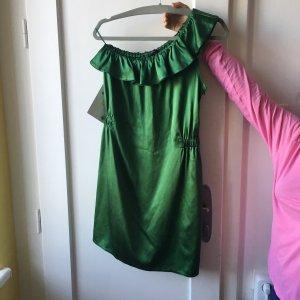 Joseph Off the shoulder jurk groen Zijde
