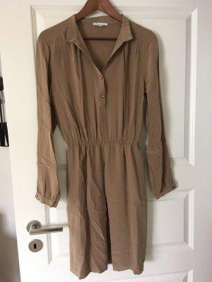 Shirtwaist dress camel