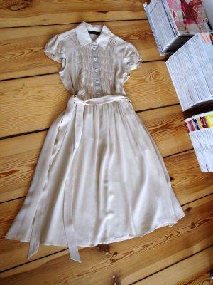Seidenkleid von Twin Set by Simona Barbieri, beige, 100%Seide, Neupreis 379€