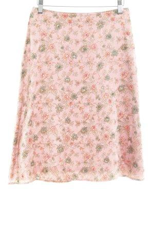 St. emile Zijden rok bloemenprint casual uitstraling