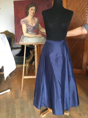 Classic Elegance Zijden rok donkerblauw