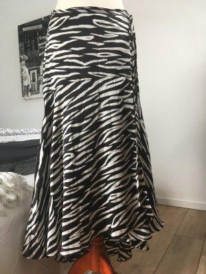 Ganni Wraparound Skirt white-black silk