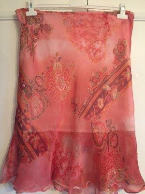 Jake*s Silk Skirt salmon-bright red