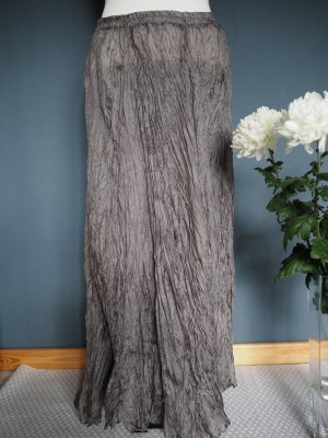 Maxi Skirt green grey silk