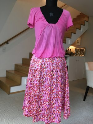 Seidenrock mit Flower print, Zara Woman Gr. 36