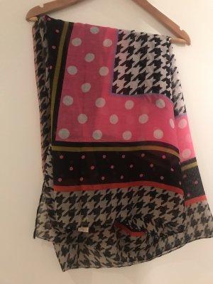 Codello Écharpe en soie rose-noir