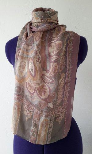 Balmain Écharpe en soie multicolore