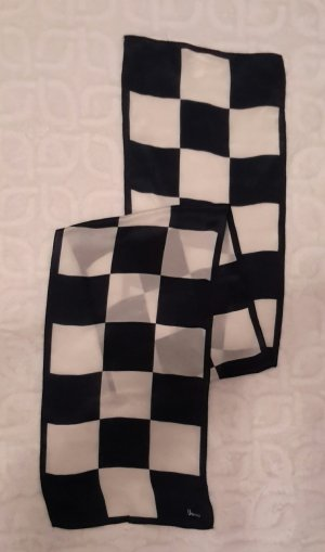Silk Scarf black-white silk