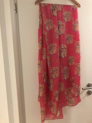 Hallhuber Bufanda de seda rosa-gris claro