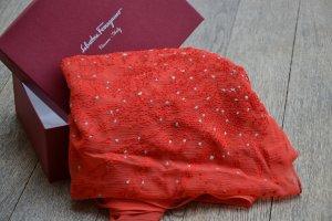 Salvatore ferragamo Zijden sjaal rood Zijde