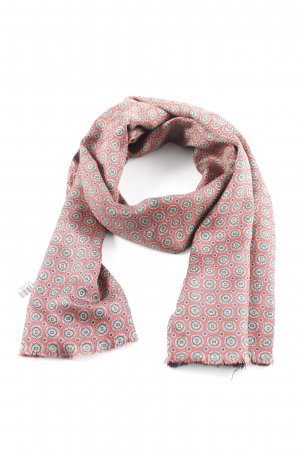 Silk Scarf abstract pattern casual look