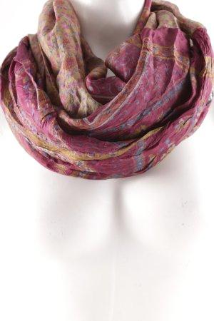 Zijden sjaal bloemenprint casual uitstraling