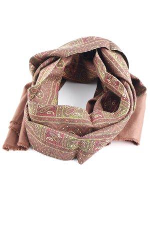 Zijden sjaal bordeaux-bos Groen paisley patroon elegant