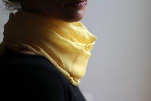 Seidenschal ,gelb, transparent