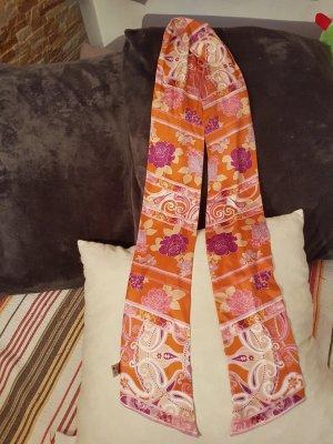 Bufanda de seda naranja-lila Seda