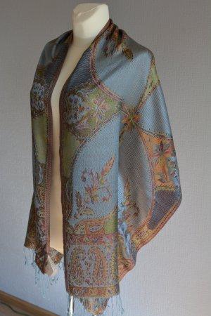 Zijden sjaal veelkleurig Zijde