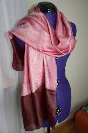Zijden doek roségoud-bordeaux Zijde