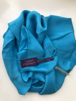 Ralph Lauren Silk Scarf light blue silk
