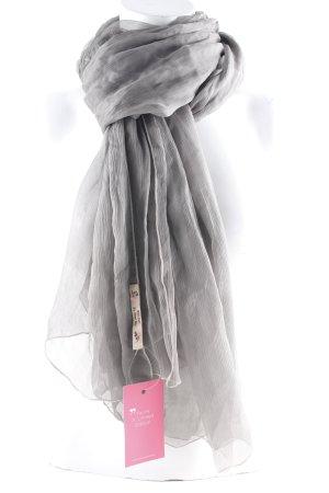 Sciarpa di seta talpa-bianco sporco stile semplice