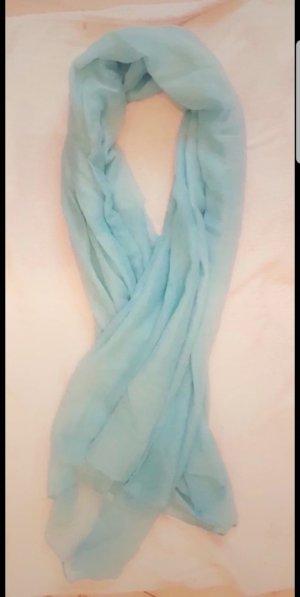 Écharpe en soie turquoise