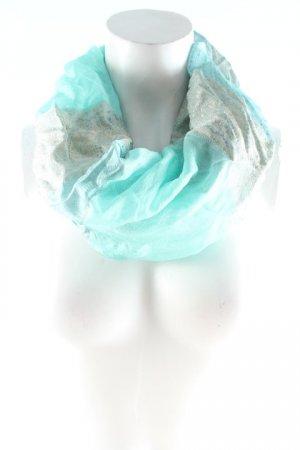 Silk Scarf turquoise-sage green abstract pattern extravagant style