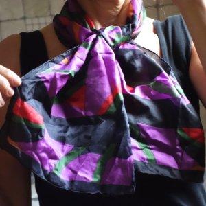 Bufanda de seda multicolor Seda