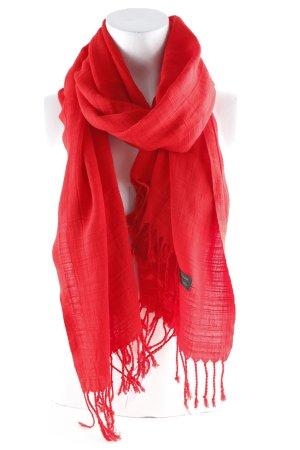 Écharpe en soie rouge brique Motif de tissage style décontracté